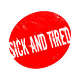 Sick And Tired rubber stamp Royalty Free Stock Photography