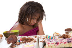 Sick to her stomach Royalty Free Stock Photography