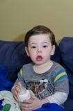 Sick toddler Royalty Free Stock Photo