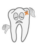 Sick tooth. Very sick tooth before the visit to the dentist Royalty Free Stock Image