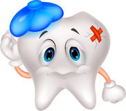 Sick tooth cartoon Royalty Free Stock Photography