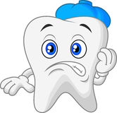 Sick tooth cartoon Royalty Free Stock Images
