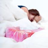 Sick woman Stock Image