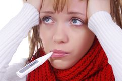 Sick woman Stock Images