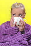 Sick woman. Royalty Free Stock Photography