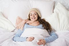 Sick woman Royalty Free Stock Images