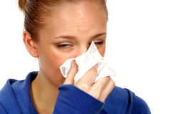Sick Woman. Woman With Flu Royalty Free Stock Image