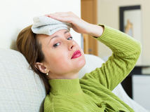 Sick  woman Stock Image