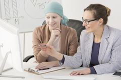 Sick woman and business client Stock Photography