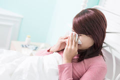 Sick Woman Caught Cold Royalty Free Stock Image