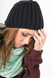 Sick woman Stock Photography