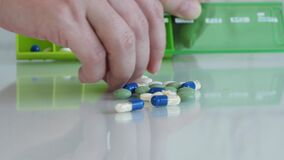 Sick Woman Dosage Pills for Daily Treatment, Drugs for Disease, Medicines Healthcare