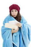 Sick woman feeling cold Stock Photo