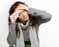 Sick Woman. Flu stock images