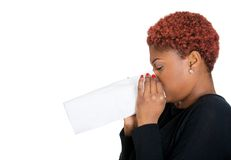 Sick woman, flu Royalty Free Stock Images