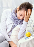 Sick Woman. Stock Photos