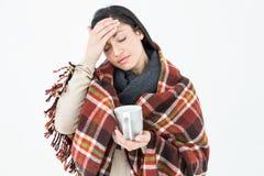 Sick woman having a migraine Stock Photos