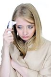 Sick woman measuring temperature Stock Photography