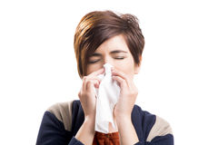 Sick woman Stock Photo