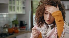 Sick woman stock video footage