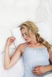 Sick woman sleeping Stock Photos
