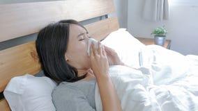 Sick Woman sneezing Royalty Free Stock Photos