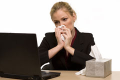Sick at work Royalty Free Stock Photography
