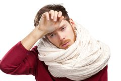 Sick young man Royalty Free Stock Photo