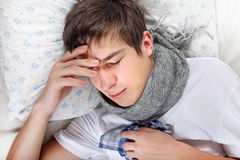Sick Young Man feel Headache Stock Photos