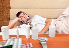 Sick Young Man Stock Photo