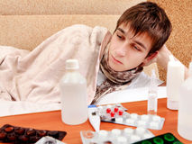 Sick Young Man Stock Image