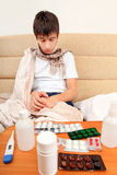 Sick Young Man Stock Images
