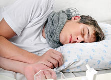 Sick Young Man sleep Royalty Free Stock Photo