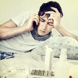 Sick Young Man Royalty Free Stock Images