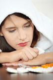 Sick young woman Royalty Free Stock Images