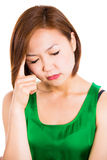 Sick young woman. Migraine Stock Images