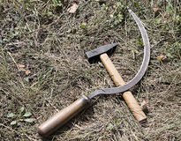 Sickle and hammer Stock Photography