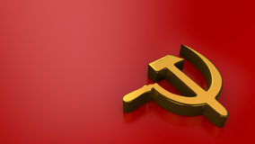 Sickle & Hammer on red royalty free illustration