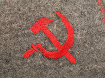Sickle and hammer soviet symbolic Stock Image