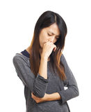 Sickness girl Stock Image