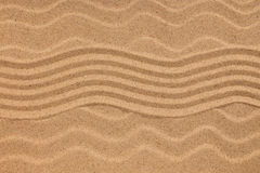 Sicksack på sand och snäckskal på krabb sand pengar för huset för homeowners för kostnader för begreppet för bakgrund föreställer Fotografering för Bildbyråer