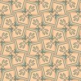 Sicksackbakgrundsvägg-papper, kräm Royaltyfri Bild