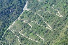 Sicksackväg till Machu Picchu Royaltyfria Foton