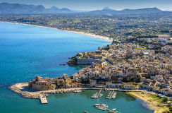 Siclian Village in a sunny day Royalty Free Stock Photos