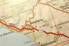 Siculiana L'isola della Sicilia, Italia Fotografie Stock Libere da Diritti