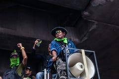 Sicurezza alla dimostrazione antigovernativa Tailandia Fotografie Stock
