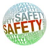 Sicurezza in collage di parola Immagini Stock Libere da Diritti