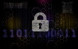 Sicurezza cyber 3 Fotografia Stock Libera da Diritti