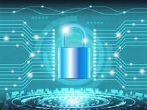 32 Sicurezza cyber 5 Illustrazione di Stock