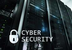 Sicurezza cyber, protezione dei dati, segretezza di informazioni Concetto di tecnologia e di Internet fotografie stock libere da diritti